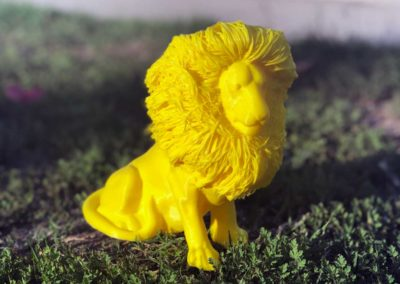 Hairy Lion - Yellow PLA