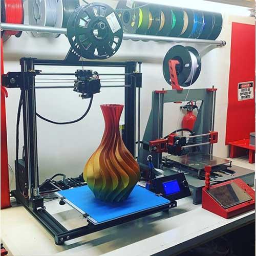 Giant 3D Printed Vase Rainbow PLA