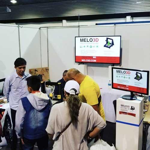 2017 Trade Show Bogota – Introducing Melo3D Premium 3D Printer