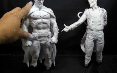Batman Sanity Diorama: Paint and Finish Process Pictures