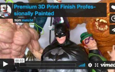 Professionally Painted 3D Prints: Batman Sanity 30″ tall – Video